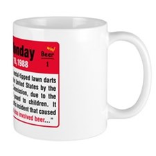 Jarts Black Monday WARNING small Mug