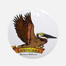 Louisiana Round Ornament