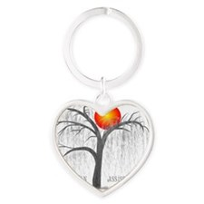 Pa 8 Weeping Willow Grey Heart Keychain