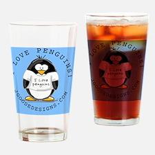 I Love Penguins-new Drinking Glass