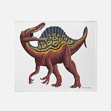 Spinosaurus aegypticus Throw Blanket