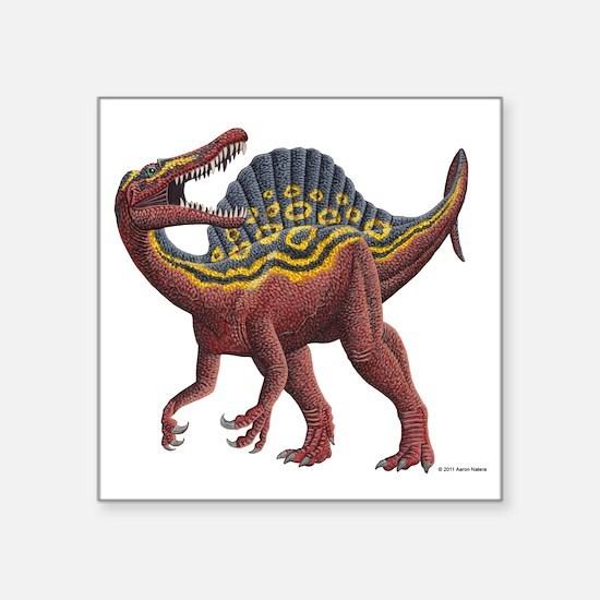 "Spinosaurus aegypticus Square Sticker 3"" x 3"""