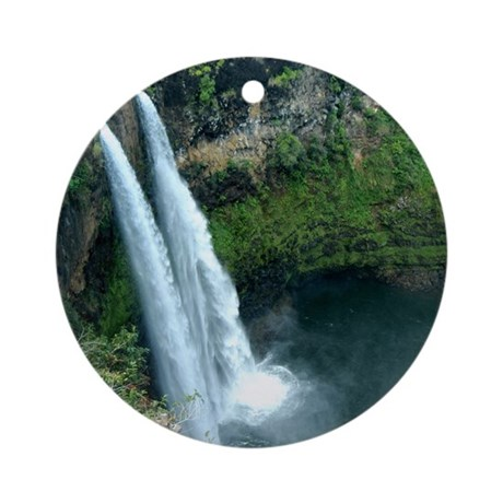 Double Waterfall Ornament (Round)