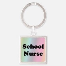Front Page School Square Keychain