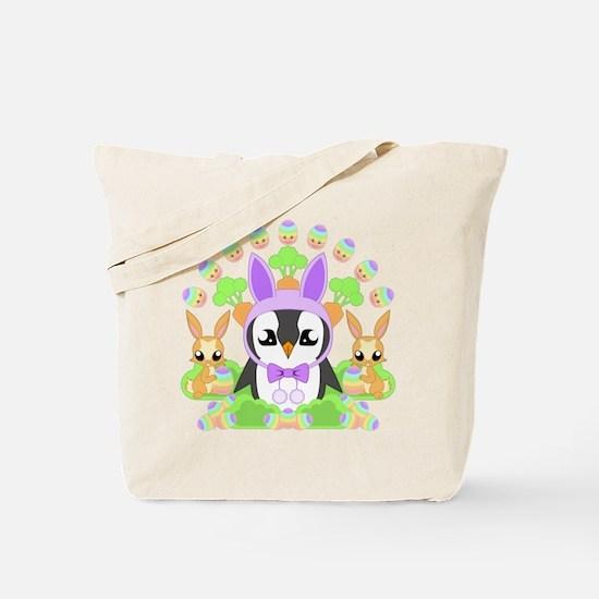 Hoppy Easterguin Tote Bag