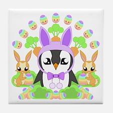 Hoppy Easterguin Tile Coaster