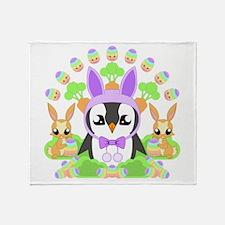 Hoppy Easterguin Throw Blanket