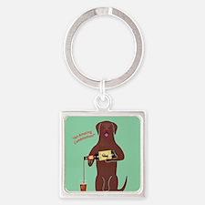 Labrador Cocolate Ale Square Keychain