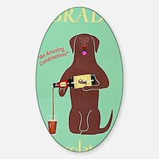 Labrador Cocolate Ale Sticker (Oval)