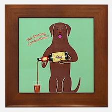Labrador Cocolate Ale Framed Tile
