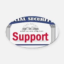 Social Security Oval Car Magnet