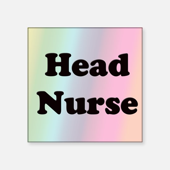 """Front Page head nurse Square Sticker 3"""" x 3"""""""