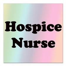 """Front Page Hospice Square Car Magnet 3"""" x 3"""""""