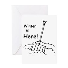 Winter is Here Greeting Cards