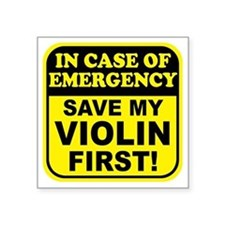 Save My Violin Rectangle Sticker