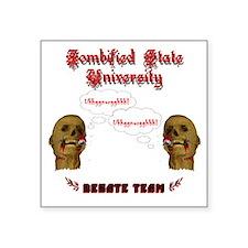 """debate_team Square Sticker 3"""" x 3"""""""