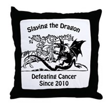 slay dragon since 2010 Throw Pillow