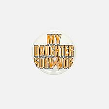 My Daughter is a Survivor (orange) Mini Button