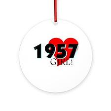 1957 Girl, 50 Ornament (Round)