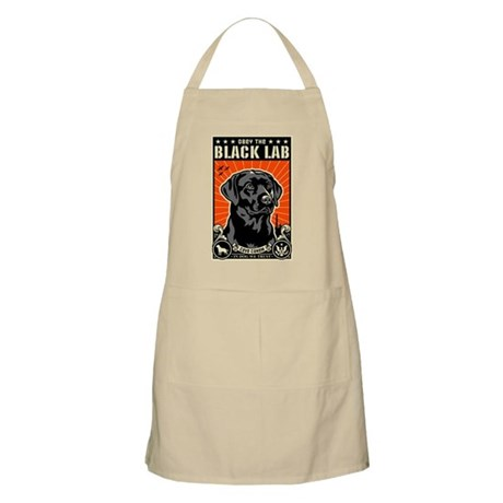 Obey the BLACK LAB! Dictator BBQ Apron