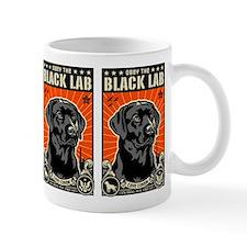 Obey the Black Lab! Coffee Small Mug
