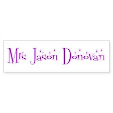 Mrs Jason Donovan Bumper Car Sticker