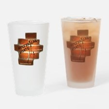 Tshirt logo Drinking Glass