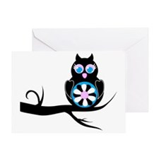 flower owl Greeting Card