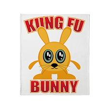 Kung Fu Bunny Throw Blanket