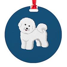 Bichon Frise patch 3x3 Ornament