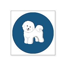 "Bichon Frise patch 3x3 Square Sticker 3"" x 3"""