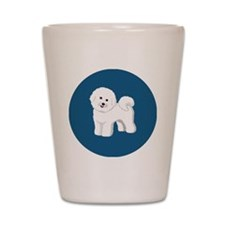 Bichon Frise patch 3x3 Shot Glass