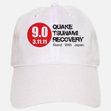 9.0 Quake Tsunami Recovery Red Dot 5x2 Baseball Baseball Cap