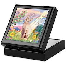Cloud Angel & Sphnx cat Keepsake Box