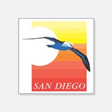 "San Diego Square Sticker 3"" x 3"""