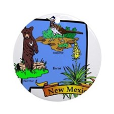 New Mexico Round Ornament