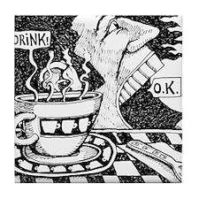 coffeeSpeaks_final Tile Coaster
