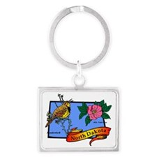 North Dakota Landscape Keychain