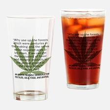 hemp4victorybackblk Drinking Glass