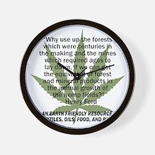 hemp4victorybackblk Wall Clock