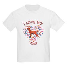 Love Vizsla Kids T-Shirt