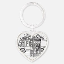 Privacy 3.25x6 1L Bttle Heart Keychain