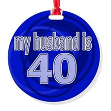 40-wife is bleu design Ornament