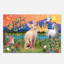 Fantasy Land Sphynx Cat Postcards (Package of 8)