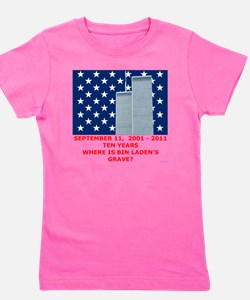 US_NAVAL_JACK_WHERE_IS_BIN_LADEN_With_T Girl's Tee