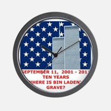 US_NAVAL_JACK_WHERE_IS_BIN_LADEN_With_T Wall Clock