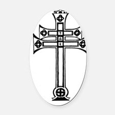 Patriarchal Cross Oval Car Magnet