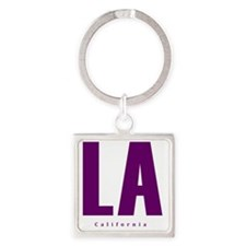 LA_10x10_apparel_L.A._Blue Square Keychain