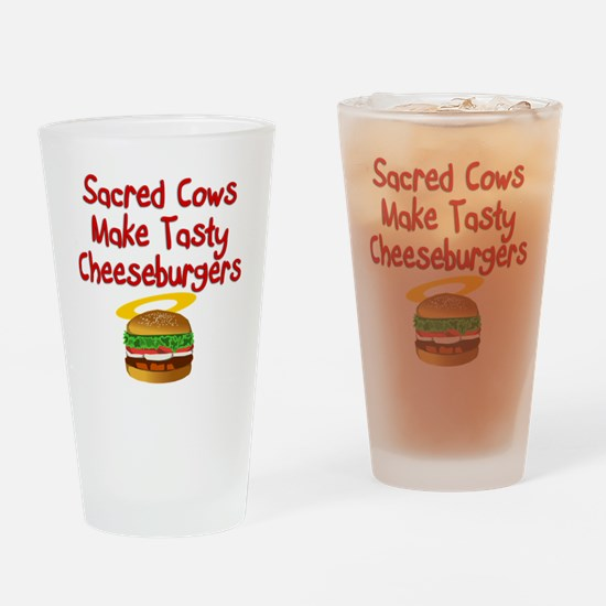 Sacred Cows Drinking Glass
