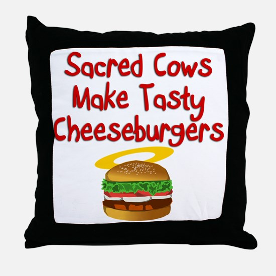 Sacred Cows Throw Pillow